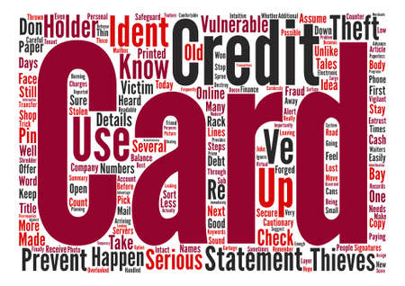 cautionary: Keep Identity Thieves At Bay text background word cloud concept