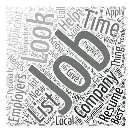 Learn how and where to look for jobs dlvy text background word cloud concept