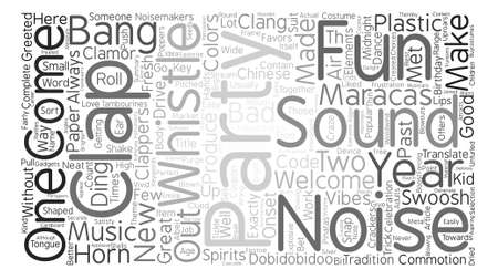 commotion: Party Sounds And Uproars text background word cloud concept