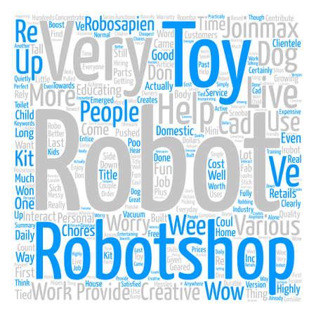 Robotshop Creates Fun For Everyone Word Cloud Concept Text Background Ilustrace