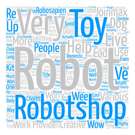 Robotshop Creates Fun For Everyone Word Cloud Concept Text Background Illustration