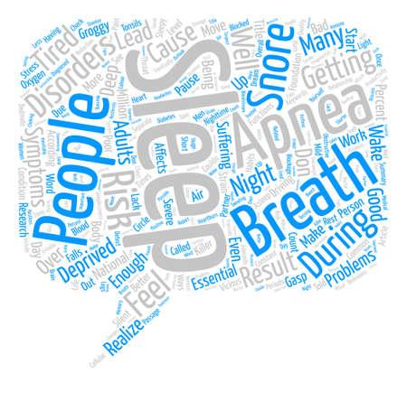 silent: Sleep Apnea A Silent Killer text background word cloud concept