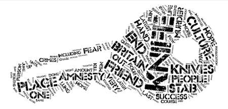 The Knife Culture In Britain text background word cloud concept