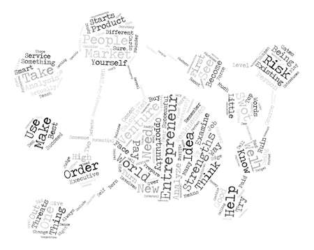 Entrepreneurs ll Word Cloud Concept Text Background