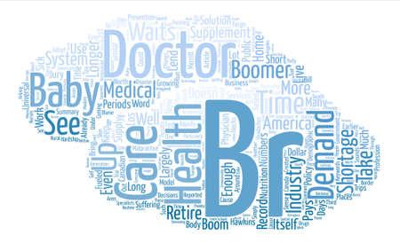 Not Enough Doctors Word Cloud Concept Text Background Illustration
