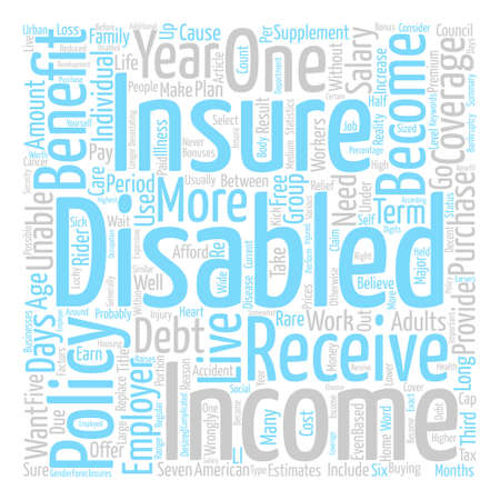 Why Should You Get Disability Insurance Word Cloud Concept Text Background