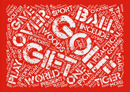 dashing: Hole In One Golf Gifts Word Cloud Concept Text Background Illustration