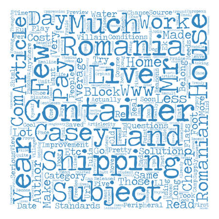 villain: Some Villain Thoughts About a Container Village text background word cloud concept