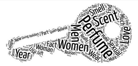Perfumes and the Women Who Love Them text background word cloud concept