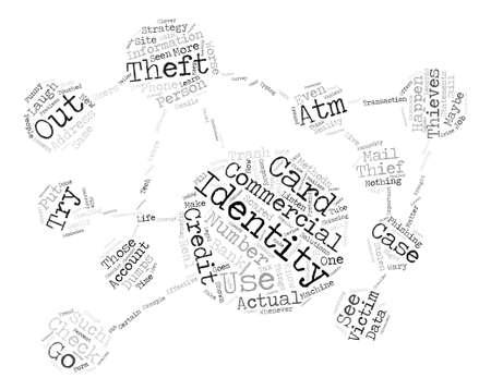 identity theft commercials Word Cloud Concept Text Background Ilustração