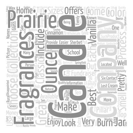 family owned: Prairie Candle Company text background word cloud concept Illustration