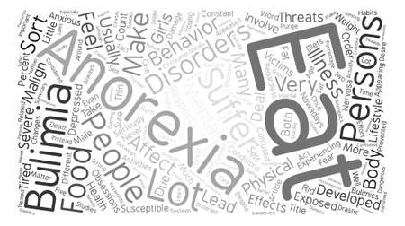 malign: Malign Effects of Anorexia and Bulimia text background word cloud concept
