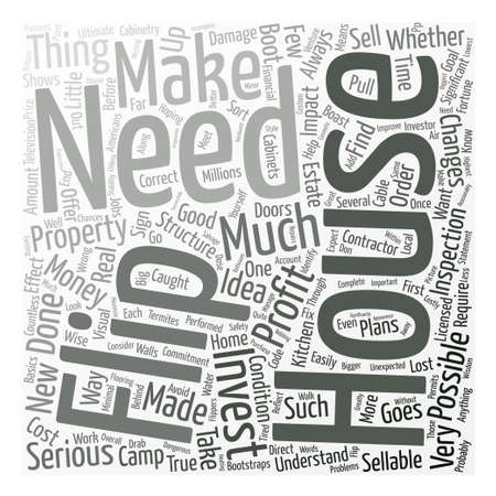 boast: House Flip Boot Camp Word Cloud Concept Text Background