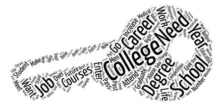 Steps To Become Eligible For Your Dream Career text background word cloud concept Illustration