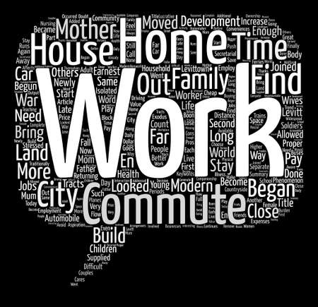 When Mother Joined The Commute text background word cloud concept