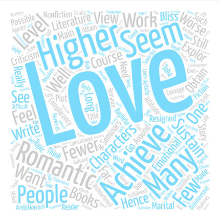 sustained: Love At A Higher Level text background word cloud concept