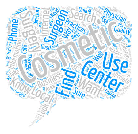 How to Find a Cosmetic Surgery Center text background word cloud concept