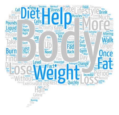 Simple Ways To Lose Weight text background word cloud concept Ilustração