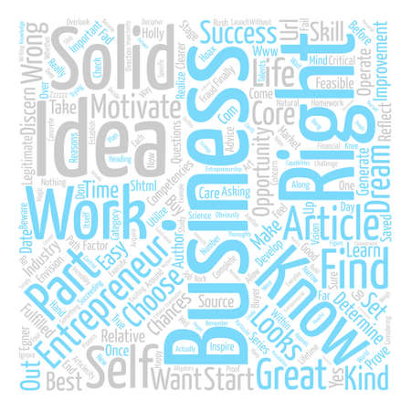 What Kind of Business Should I Start Part of a series text background word cloud concept