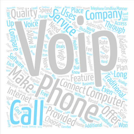 compromising: Voip phone companies text background word cloud concept