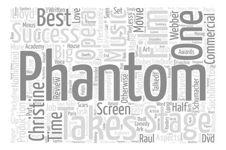 nominated: The Phantom Of The  DVD Review text background word cloud concept