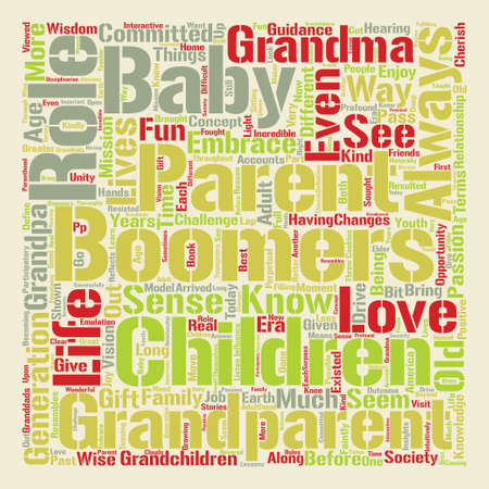 Things Grandparents Know text background word cloud concept