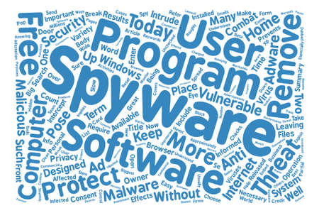 Spyware Remover Protect Your Computer from Spyware text background word cloud concept