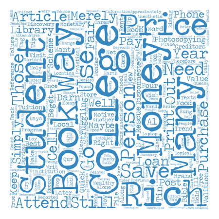 darn: How To Save Money While At College text background word cloud concept Illustration
