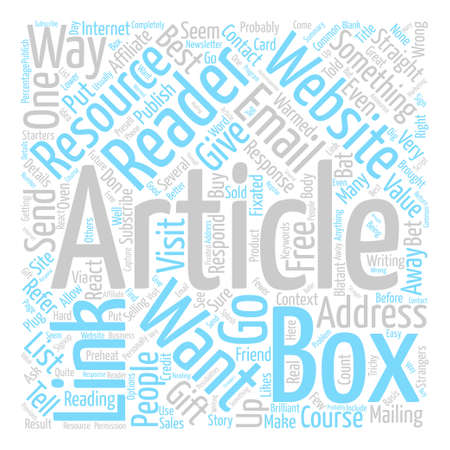 Ways A Reader Can Respond To Your Article Word Cloud Concept Text Background