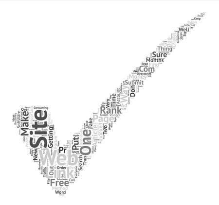 indexed: How I Got My Web Site To PR In Months text background word cloud concept Illustration