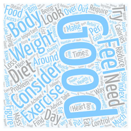 Control your Weight and Feel the Improvement text background wordcloud concept Illustration
