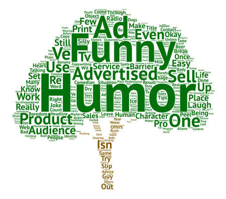 It s Not Funny Unless it Sells text background word cloud concept Banco de Imagens - 74049713
