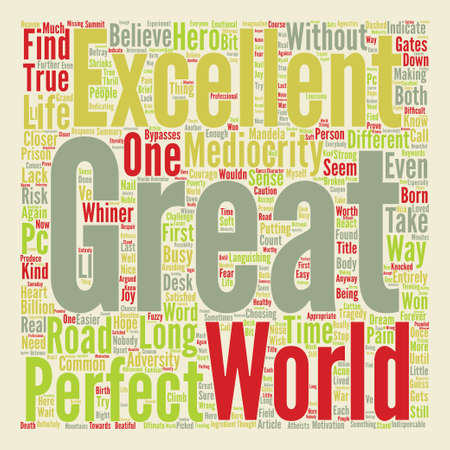 On Greatness Word Cloud Concept Text Background