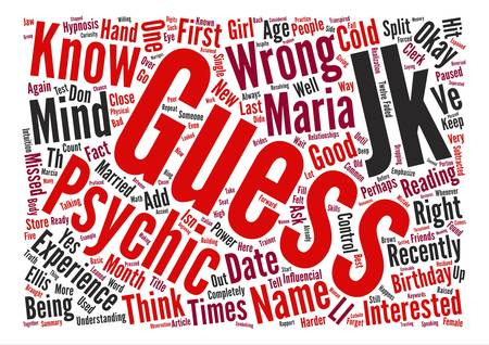 psychic: How To Be Psychic text background word cloud concept
