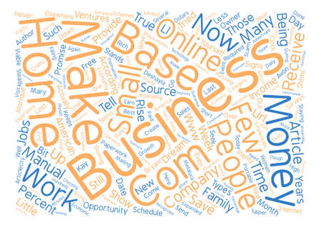 Home Based Business on the Rise text background word cloud concept