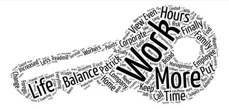 s trap: Trapped On The Treadmill Work Life Balance text background word cloud concept