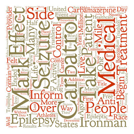 Triathlete Triumphs Over Epilepsy Word Cloud Concept Text Background