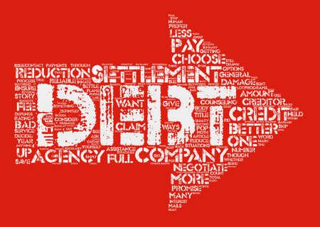 どのようにより良い債務決済会社単語クラウド コンセプト テキストの背景を選択するには