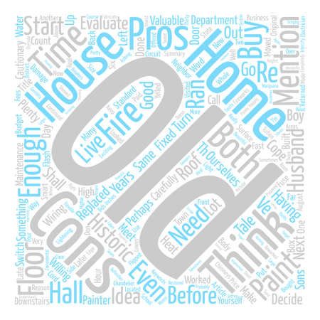 Is An Old Home for You The Cons text background word cloud concept Illustration