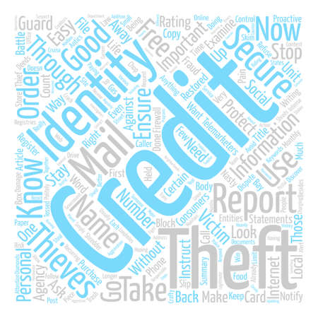 Identity Theft Stop It Now text background word cloud concept