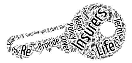 How To Control Your Life Insurance Premiums text background word cloud concept Ilustrace
