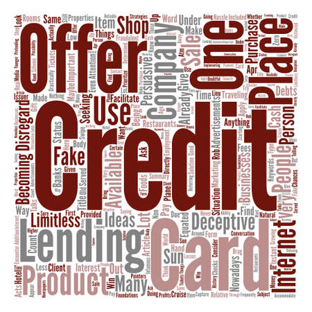 How To Find Out Deceptive Credit Card Offer Word Cloud Concept Text Background