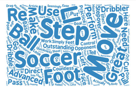 How To Step By Step Soccer Moves Word Cloud Concept Text Background