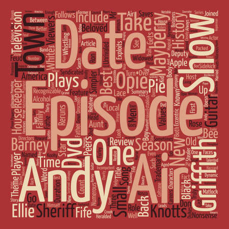 The Andy Griffith Show DVD Review Word Cloud Concept Text Background
