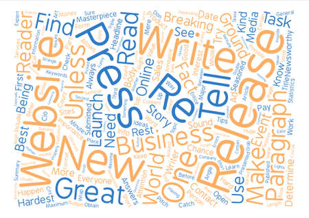 How to Write that Press Release Masterpiece text background word cloud concept 向量圖像