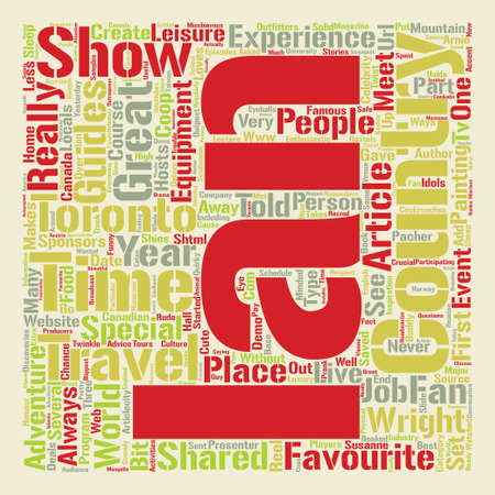 Ian Wright Live in Toronto text background word cloud concept Illustration