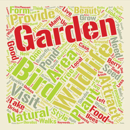 What is the Right Garden Style for You Wildlife Garden text background word cloud concept