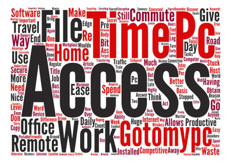 How Gotomypc Can Ease Your Daily Commute text background word cloud concept Ilustração