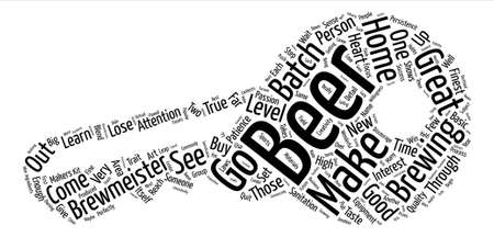 The Heart of a Brewmeister text background word cloud concept Illustration