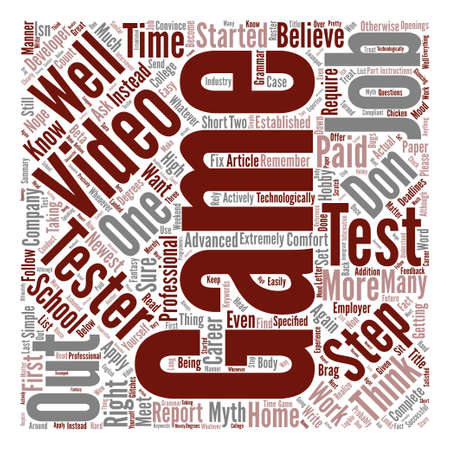 How To Become A Video Game Tester In Easy Steps text background word cloud concept Illustration
